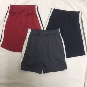 EUC Striped Red Navy Gray Athletic Shorts 4T